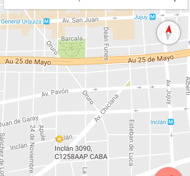 Map Arte Inclan 3090