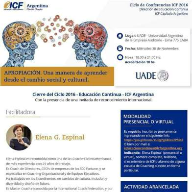 Evento ICF Flyer