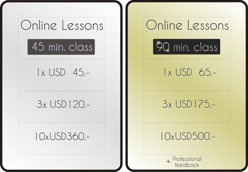 Cost Online Tango classes