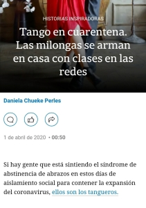 La Nacion Tango cuarentena covid19